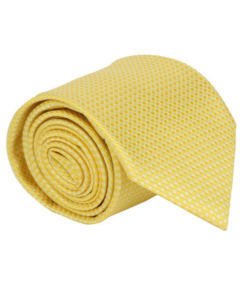 Alvaro Castagnino Yellow Micro Fiber Necktie