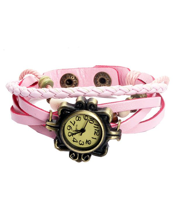Frozen Apple Frozen Apple Light Pink Strap Analog Bracelet Watch
