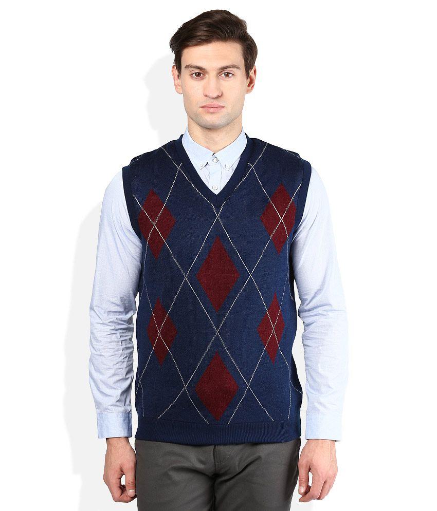 Proline Blue V-Neck Sweater
