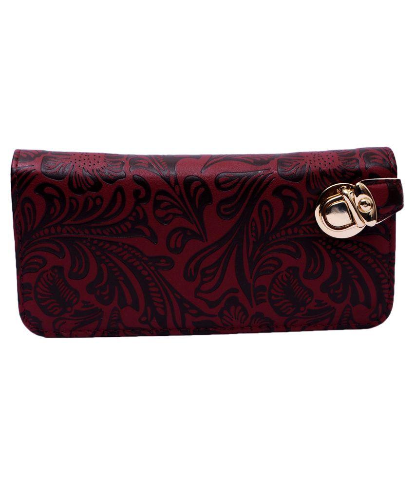 Zakina Maroon Casual Formal Wallet
