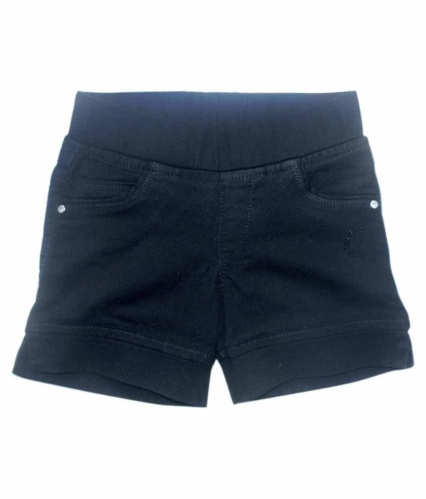 Kitts N Nevis Black Shorts For Girls