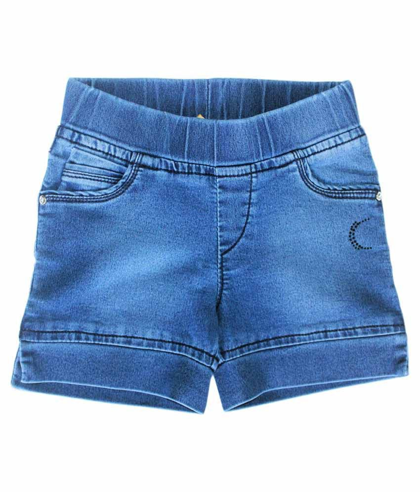 Kitts N Nevis Blue Shorts For Girls