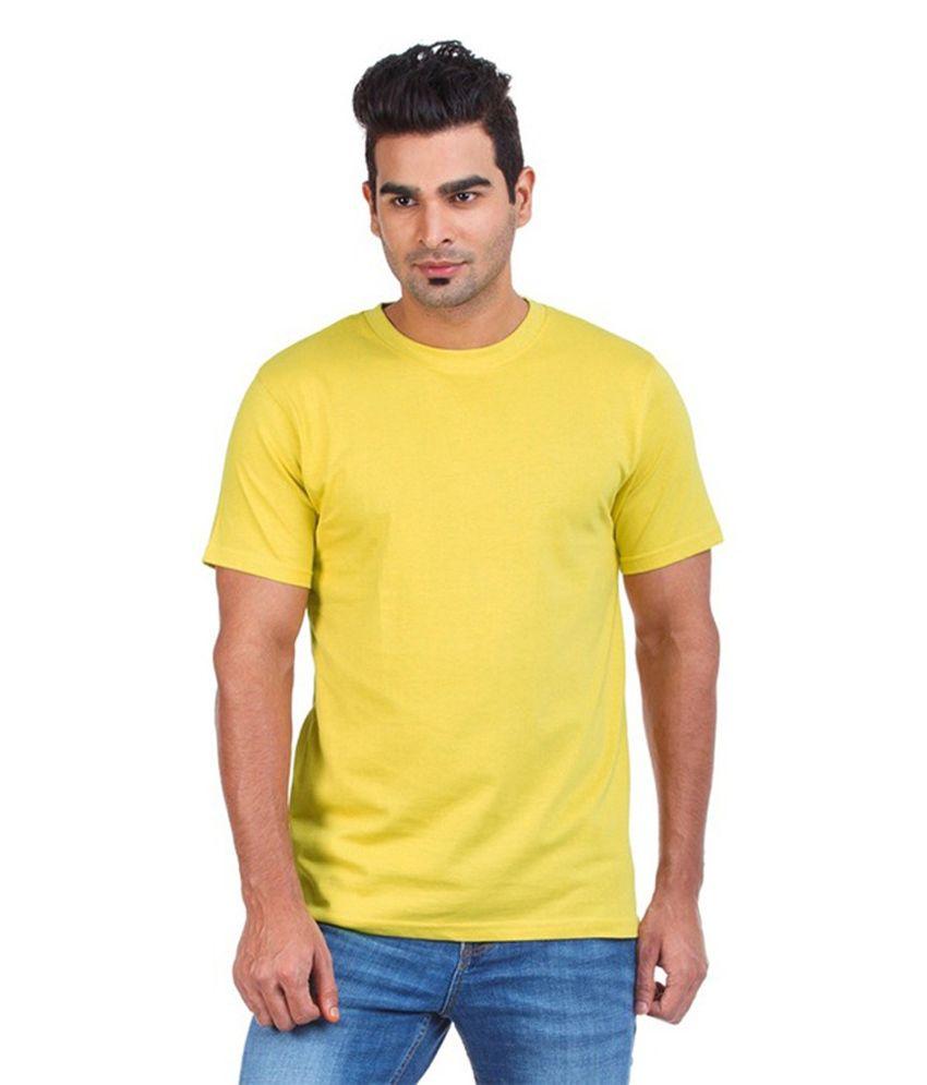 Mrv Yellow Cotton T-shirt