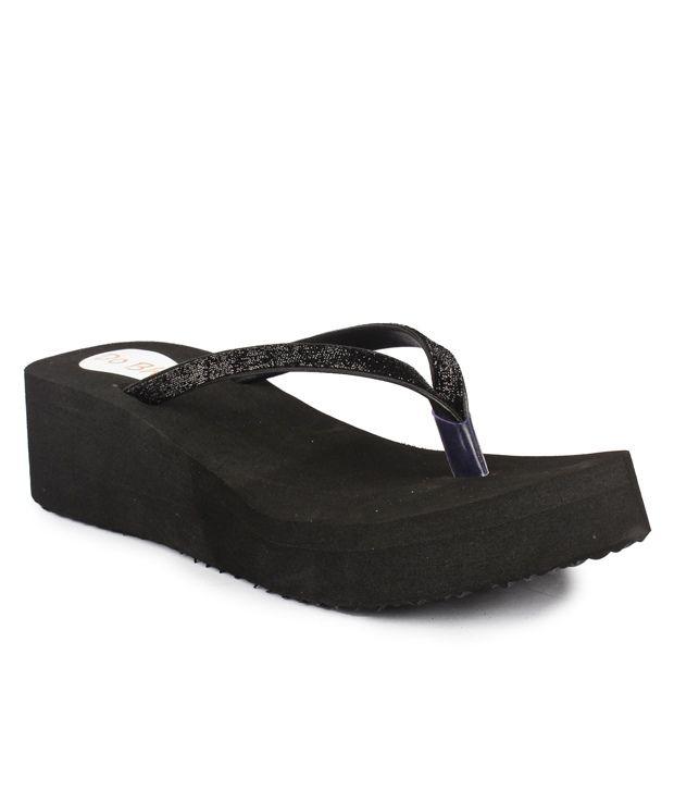 Do Bhai Black Flip Flops