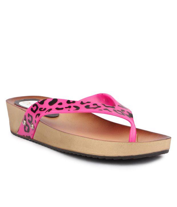 Do Bhai Pink Flip Flops