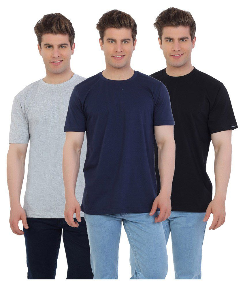 Eetee Multicolour Cotton T-Shirt Pack Of 3
