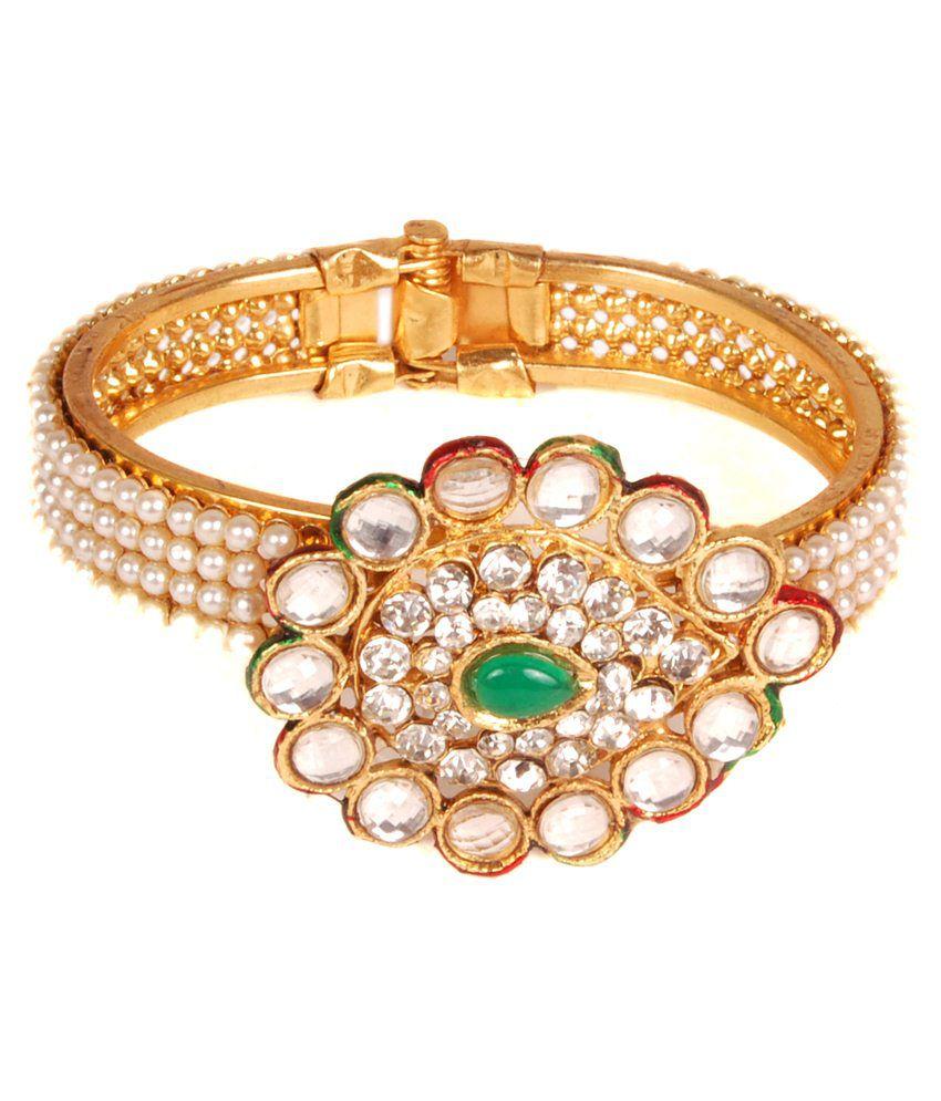 Urban Tag Golden Alloy Bracelet