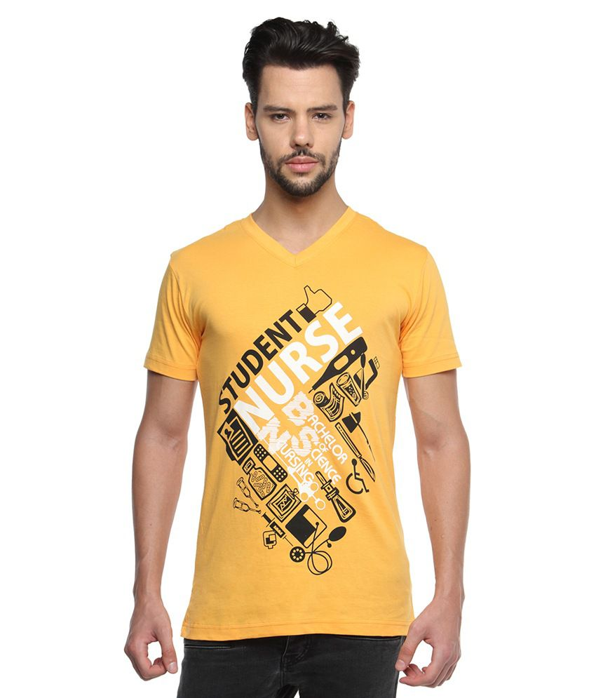 Black Wing Yellow Cotton T Shirt