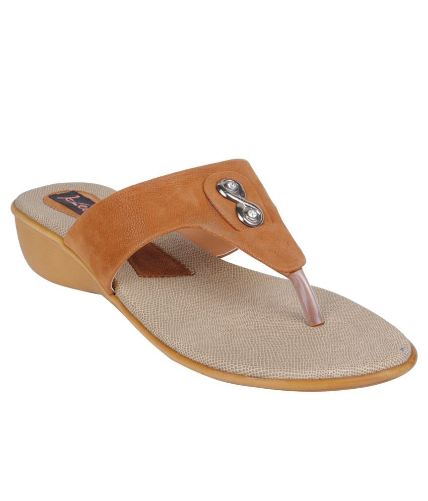 Klee Tan Heeled Slip Ons