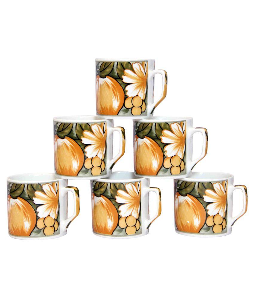 Seashell Multicolor Coffee Mugs - Set Of 6