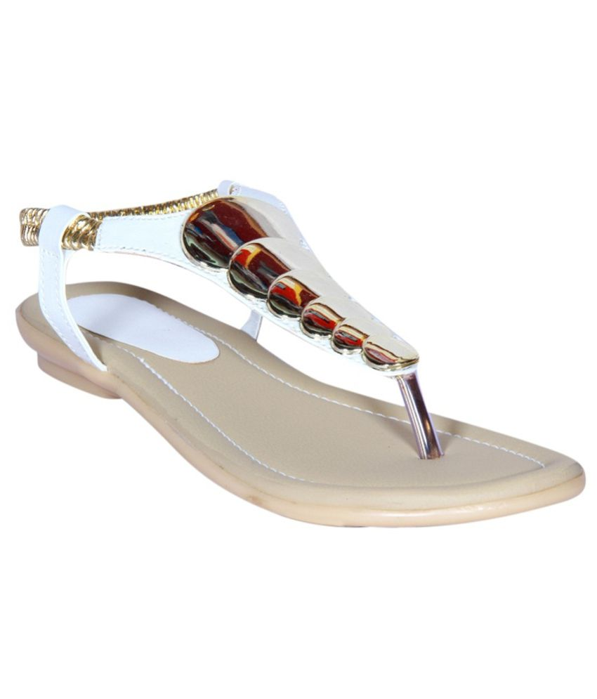 Funku Fashion Fashionable White Sandals