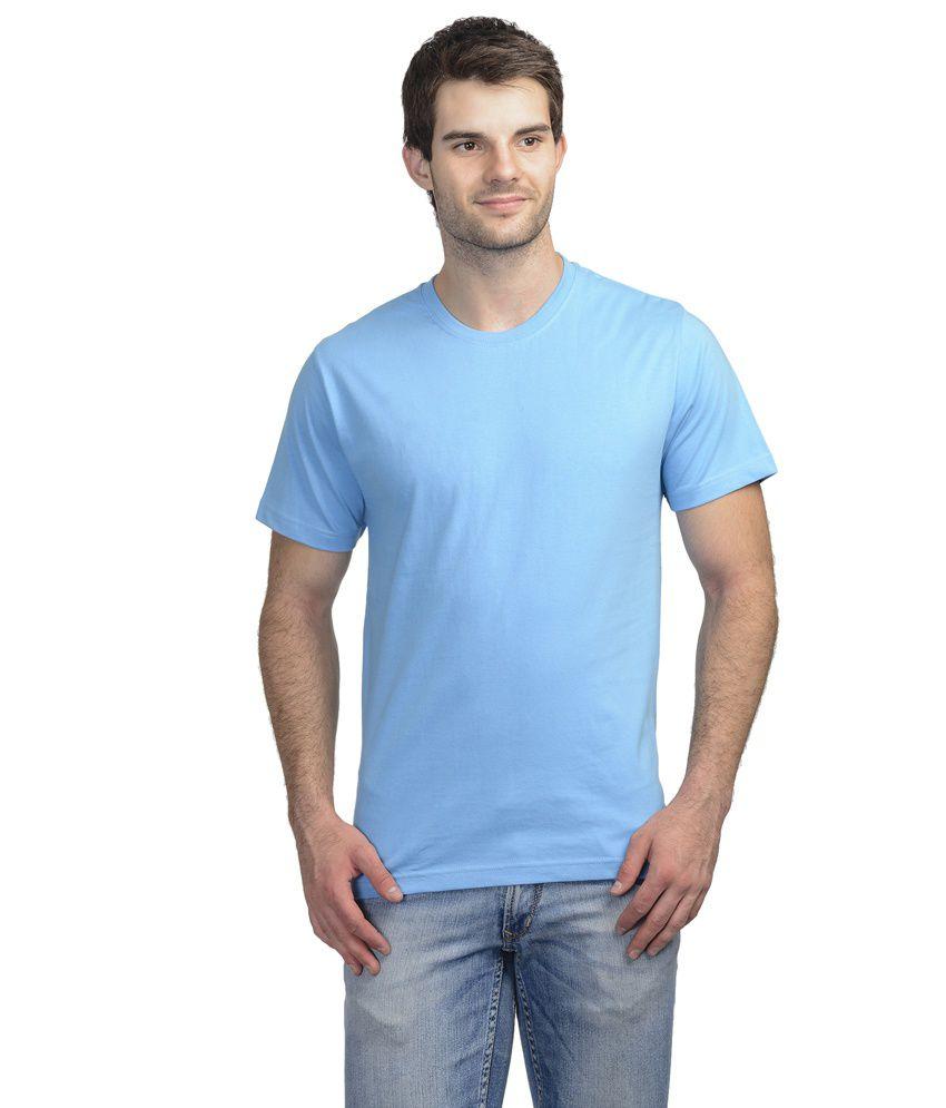 Onstreet Blue Cotton Blend T-shirt