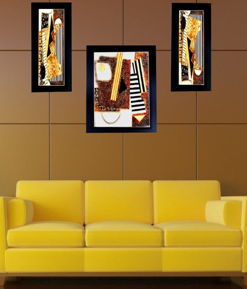 Contemporary Orange And Brown Wall Decor Composition - The Wall Art ...
