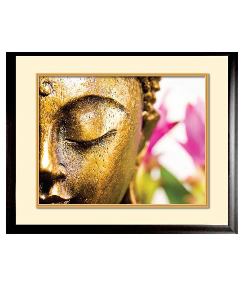 Mataye Graphics Beautiful Buddha Designer Painting with Frame