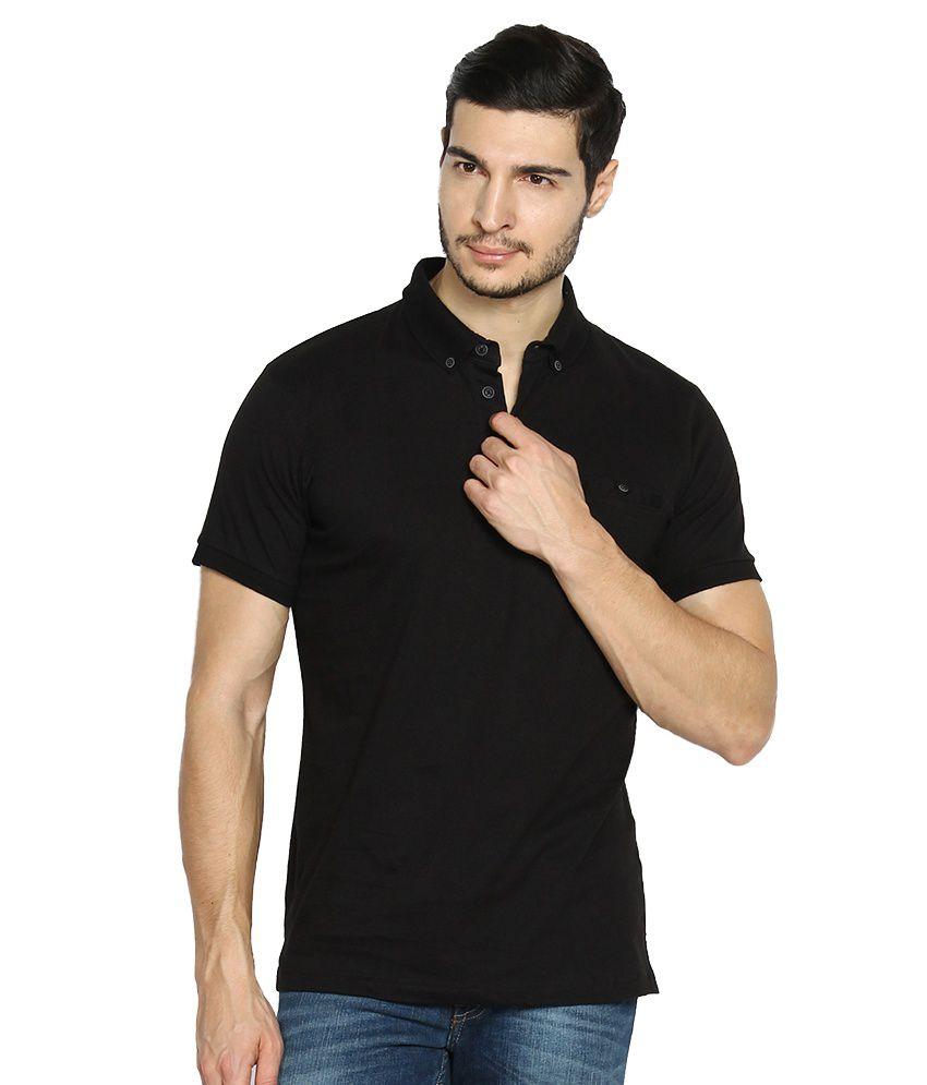 6619e76a63396 Highlander Black Polo T-Shirt - Buy Highlander Black Polo T-Shirt Online at  Low Price - Snapdeal.com
