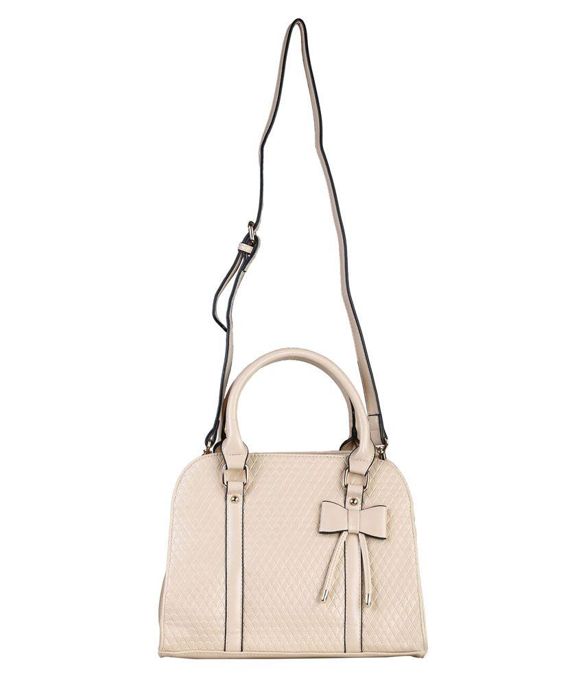 Sia Audray Beige Shoulder Handbag