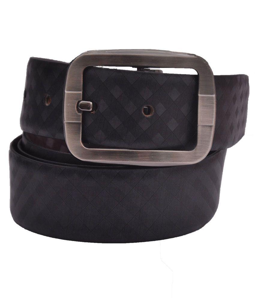 Cowboy Black Leather Formal Belt