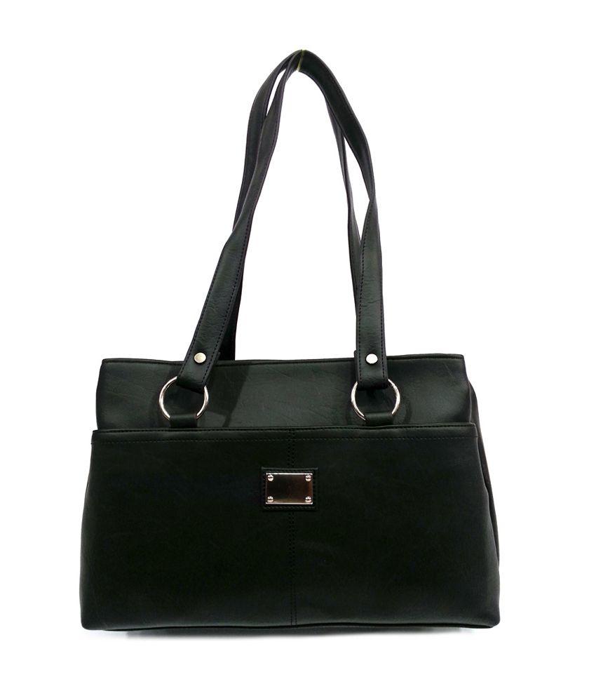 Leather Land Black Shoulder Bags