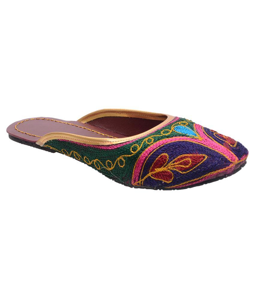 Leejordan Multicolor Flat Slip-ons