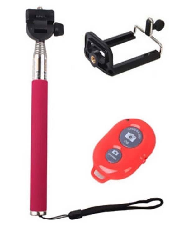 anahita enterprises bluetooth selfie stick for android and iphone pink pric. Black Bedroom Furniture Sets. Home Design Ideas