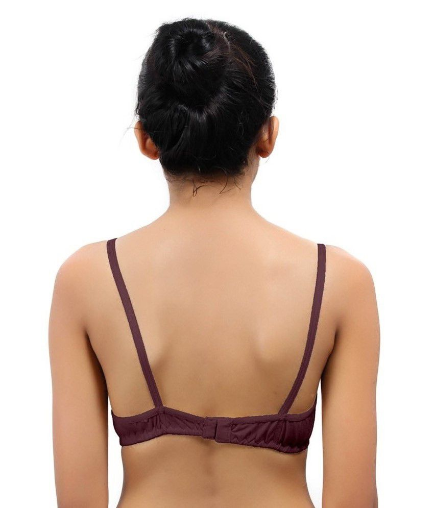 d2d207360 Buy Fabme Maroon design Cotton Bra Online at Best Prices in India ...