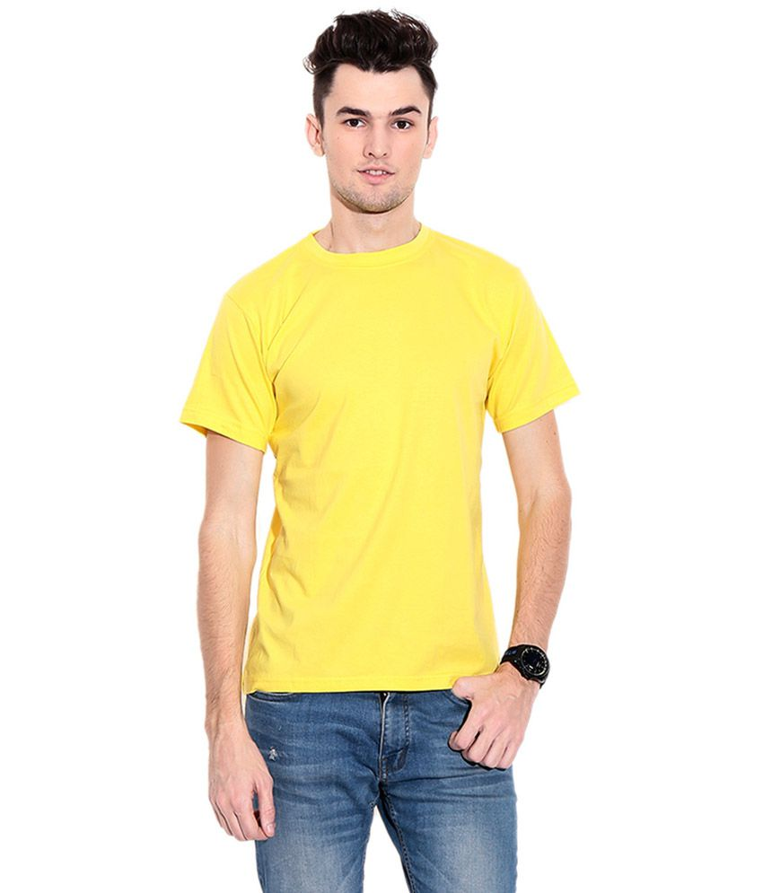Hct Fashion Yellow Cotton Blend T-shirt - Pack Of 2