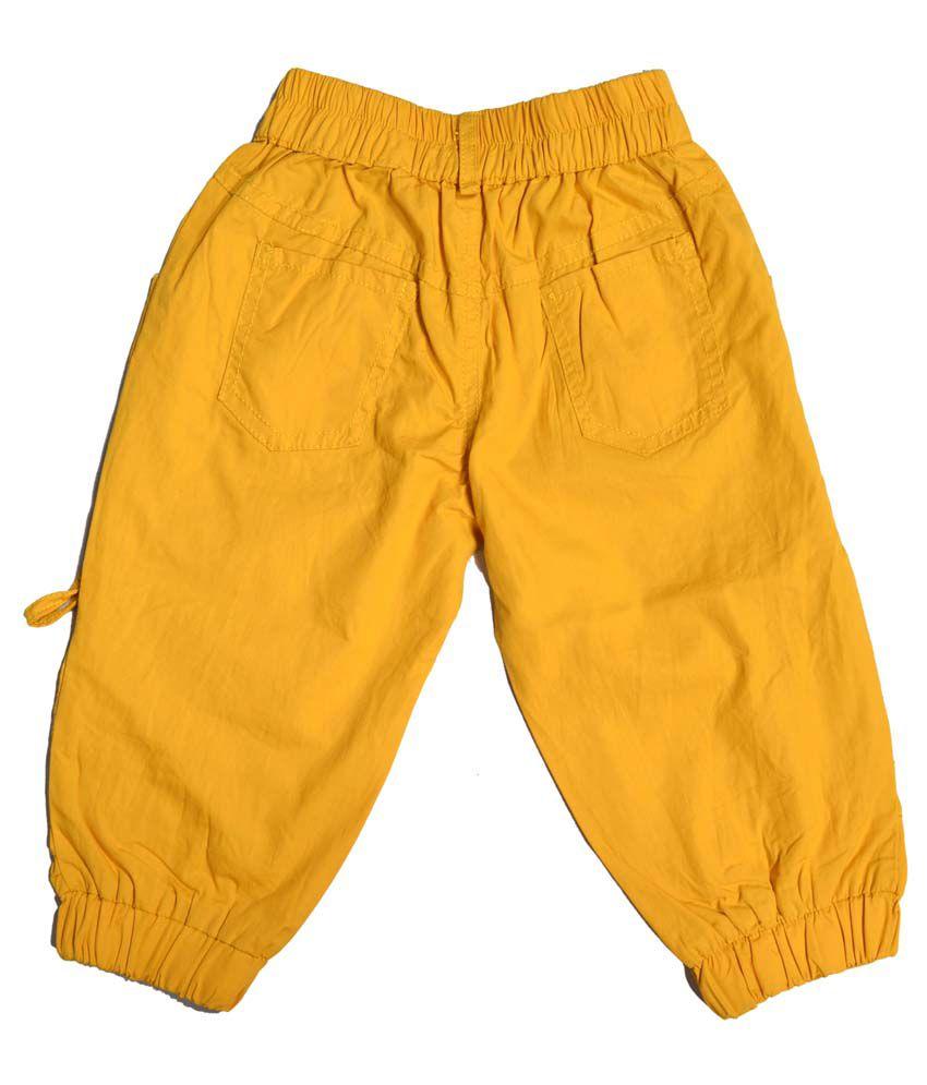 Masti Girls Yellow Capris Fo Girls