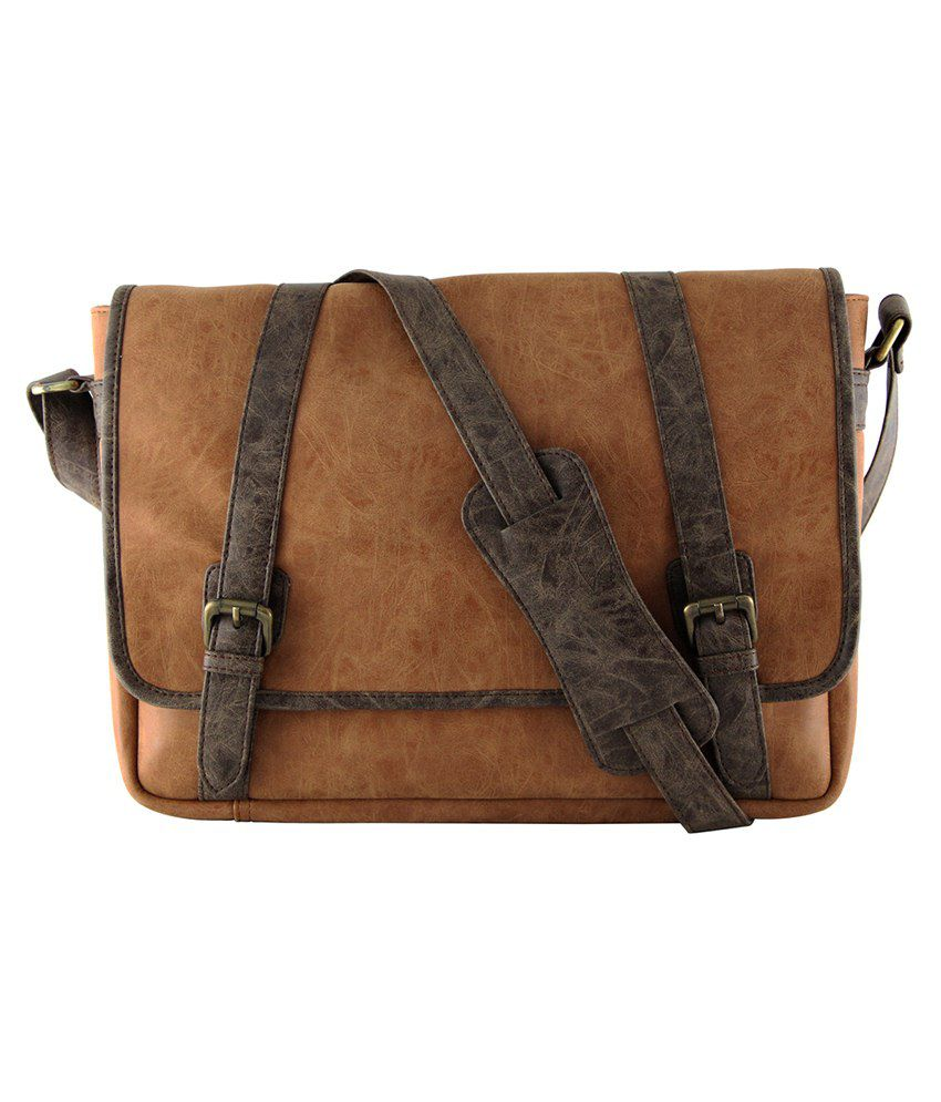 Mohawk Oli Laptop Bag-Tan