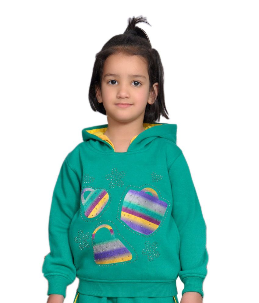 Shaun Green Woolen Sweatshirt With Hood