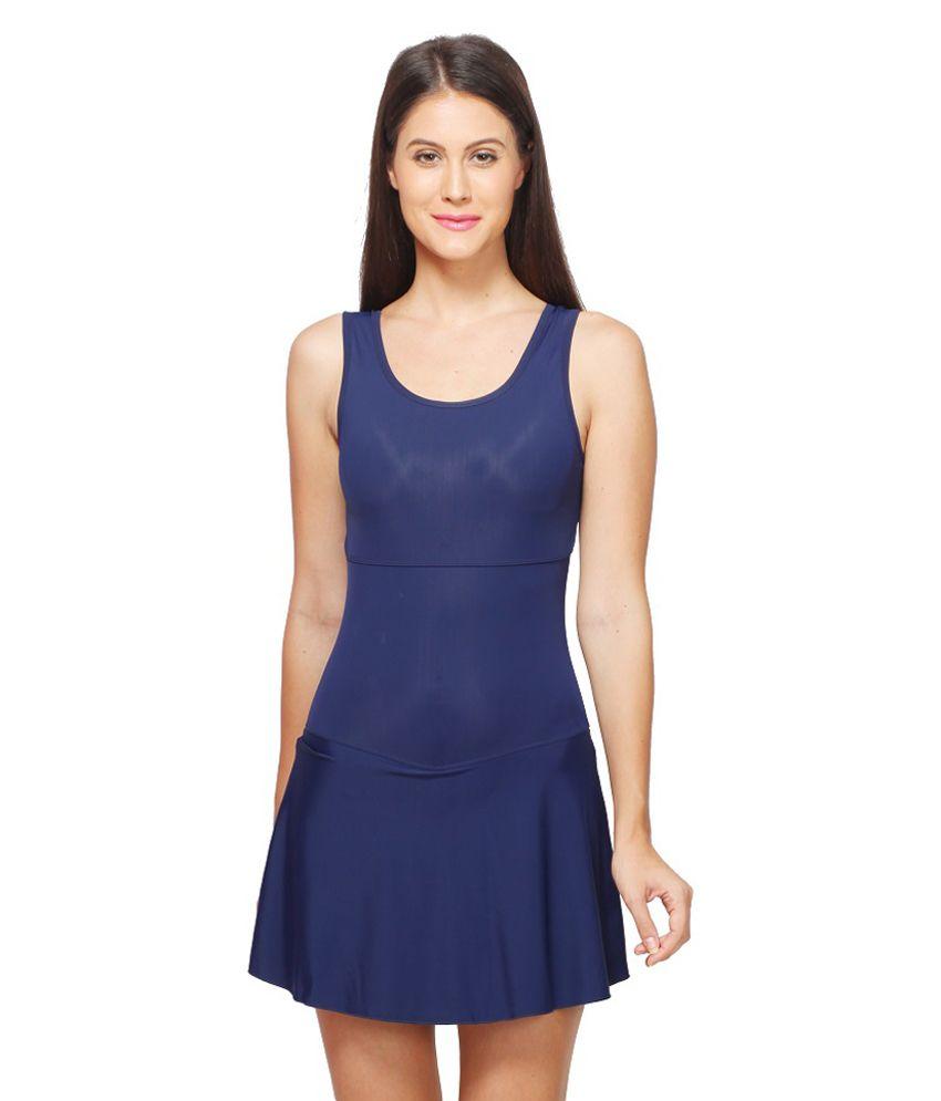 Attiva Blue Female Sleeveless Swimwear/ Swimming Costume