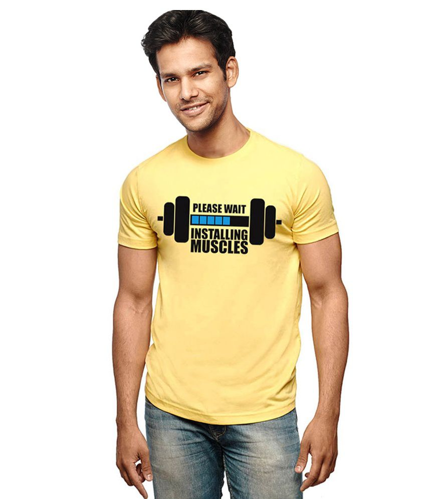 Wear Your Opinion Yellow Cotton Blend T-shirt