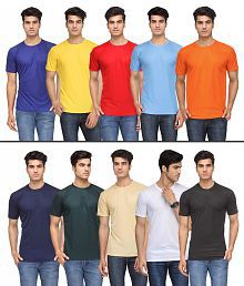 Rico Sordi Multicolour Polyester T Shirt (Pack Of 10)