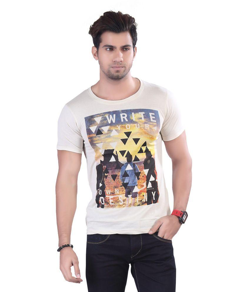 Ashoka Garments White Cotton T Shirt