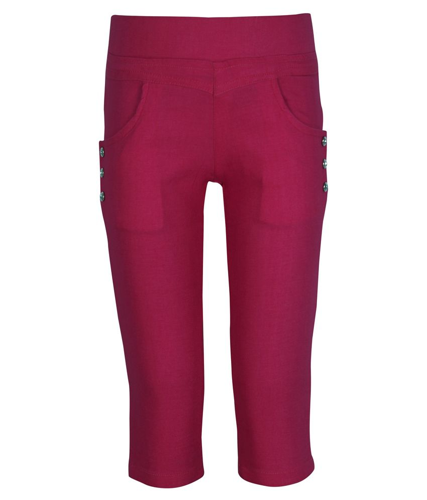 Jazzup Cotton Lycra Capri For Girls