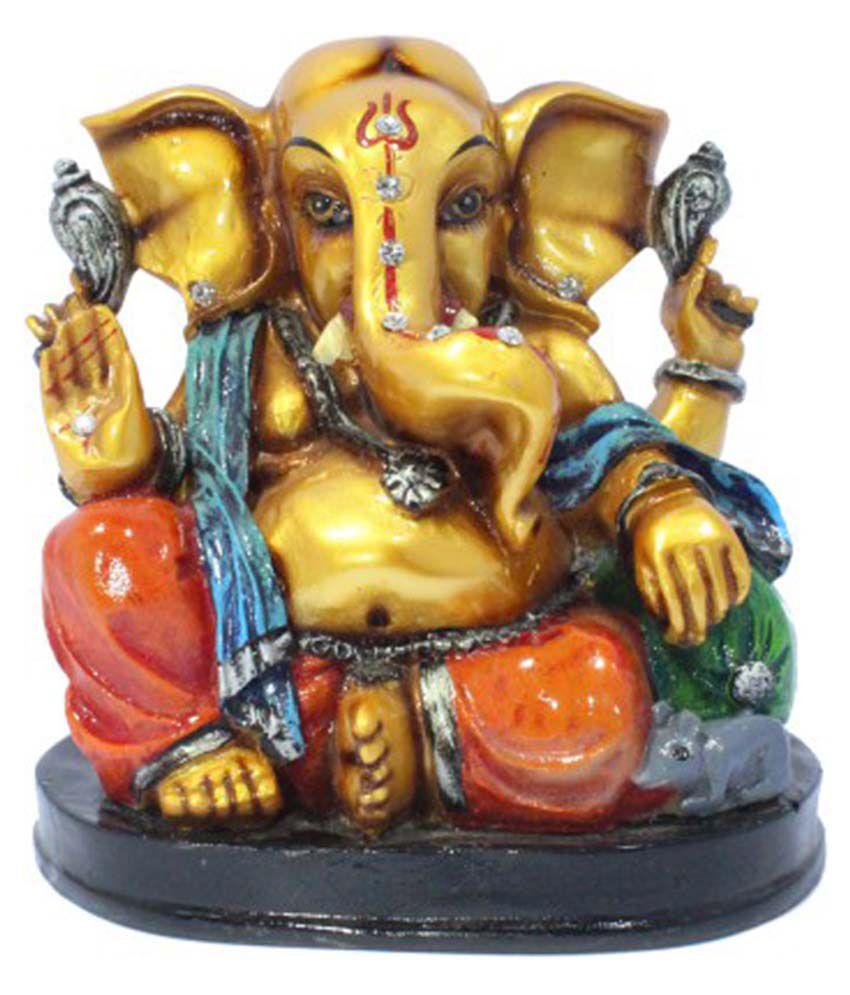 Shreena Brown Resin Ganesh Idol
