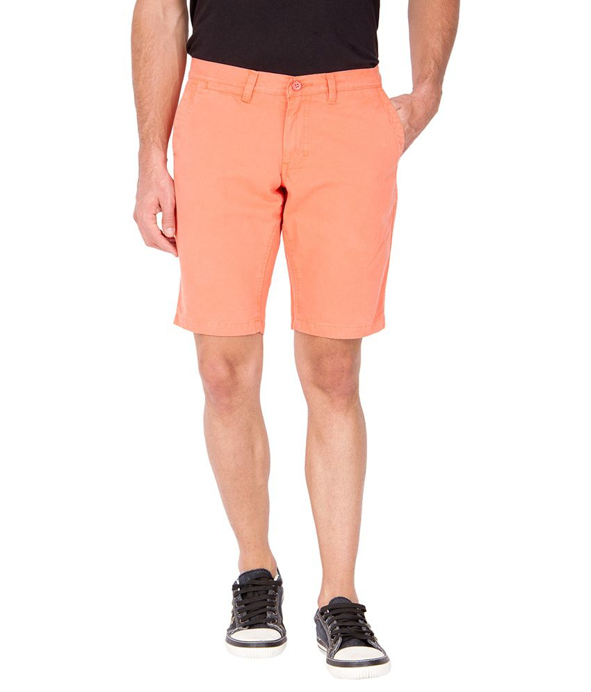 The Indian Garage Co. Orange Cotton Shorts