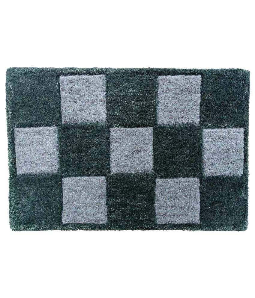 Amit Carpet Gray Cotton Schenelle Floor Mat