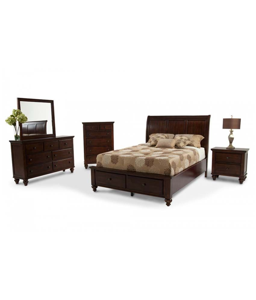 Anchorage queen size bed set in natural finish buy for Furniture anchorage