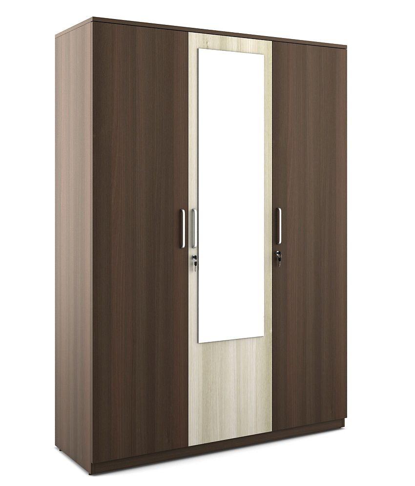 Crescent 3 door wardrobe buy online at best price in