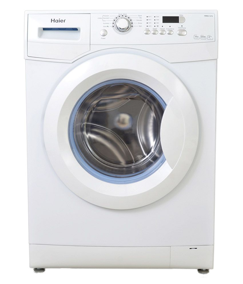 haier 7kg hw70 1279 fully automatic front load washing machine white price in india buy haier. Black Bedroom Furniture Sets. Home Design Ideas