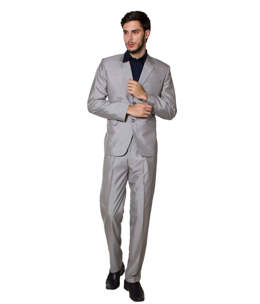 Wintage Grey Poly Blend Suit