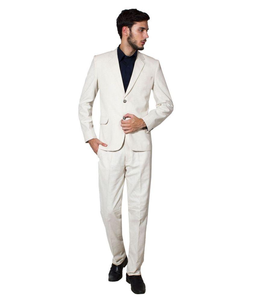 Wintage Beige Linen Suit