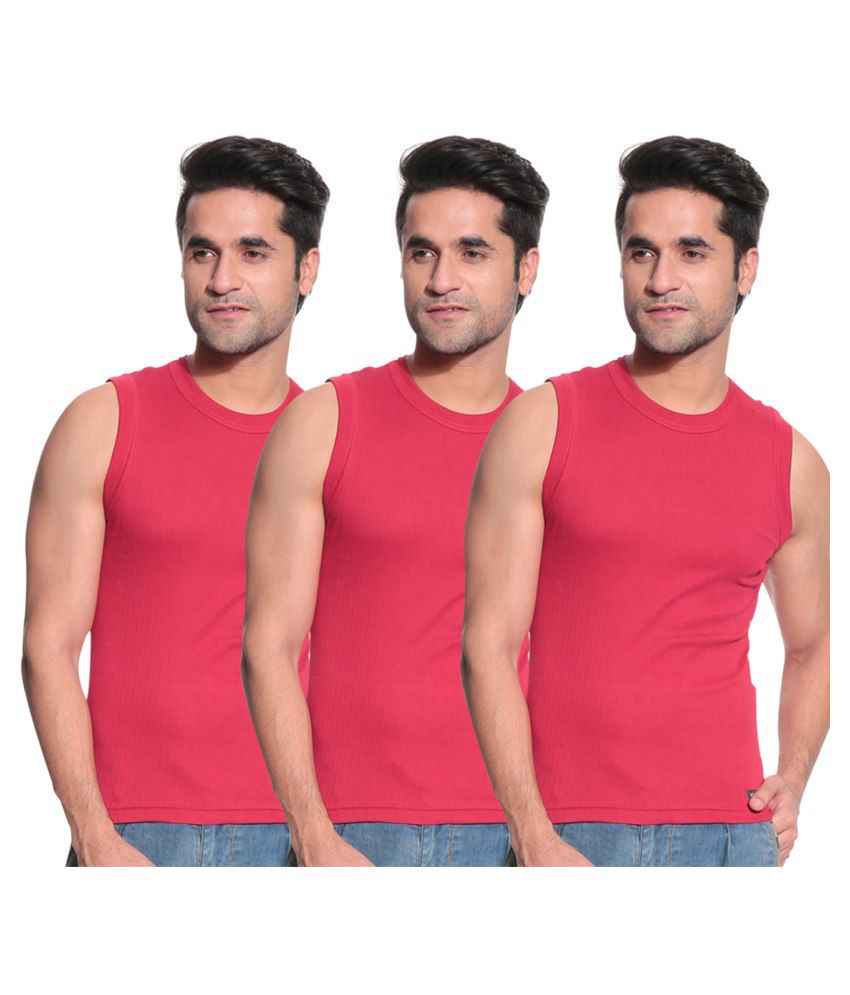 71d4cd6d TSG Escape Red Muscle tee vest -Pack of 3 - Buy TSG Escape Red Muscle tee  vest -Pack of 3 Online at Low Price in India - Snapdeal