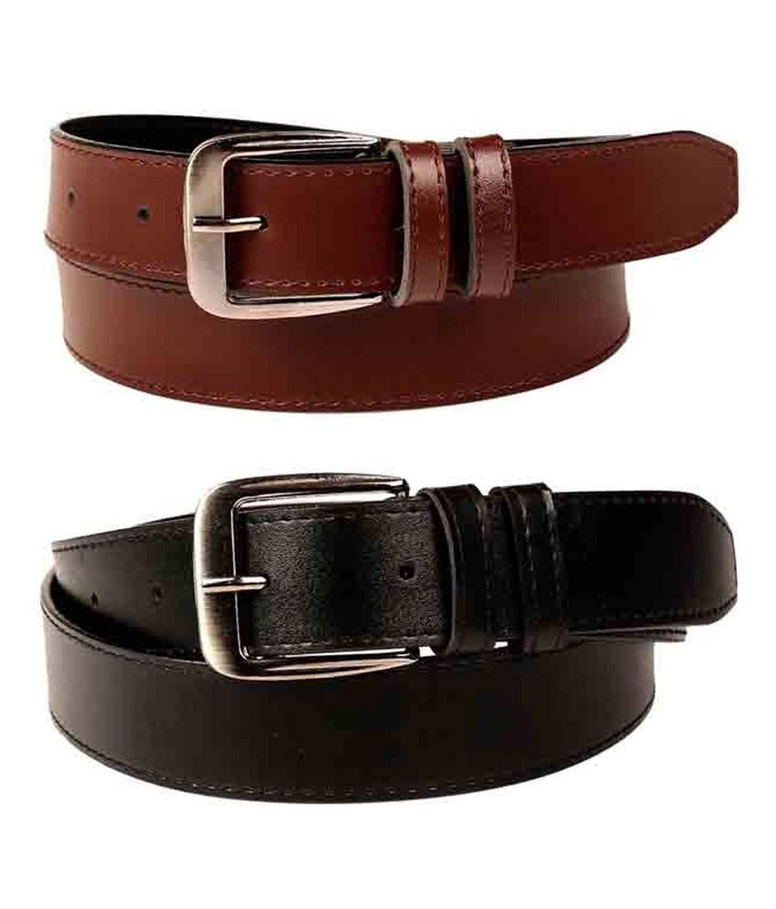 Daller Multicolour Formal Belt - Set Of 2