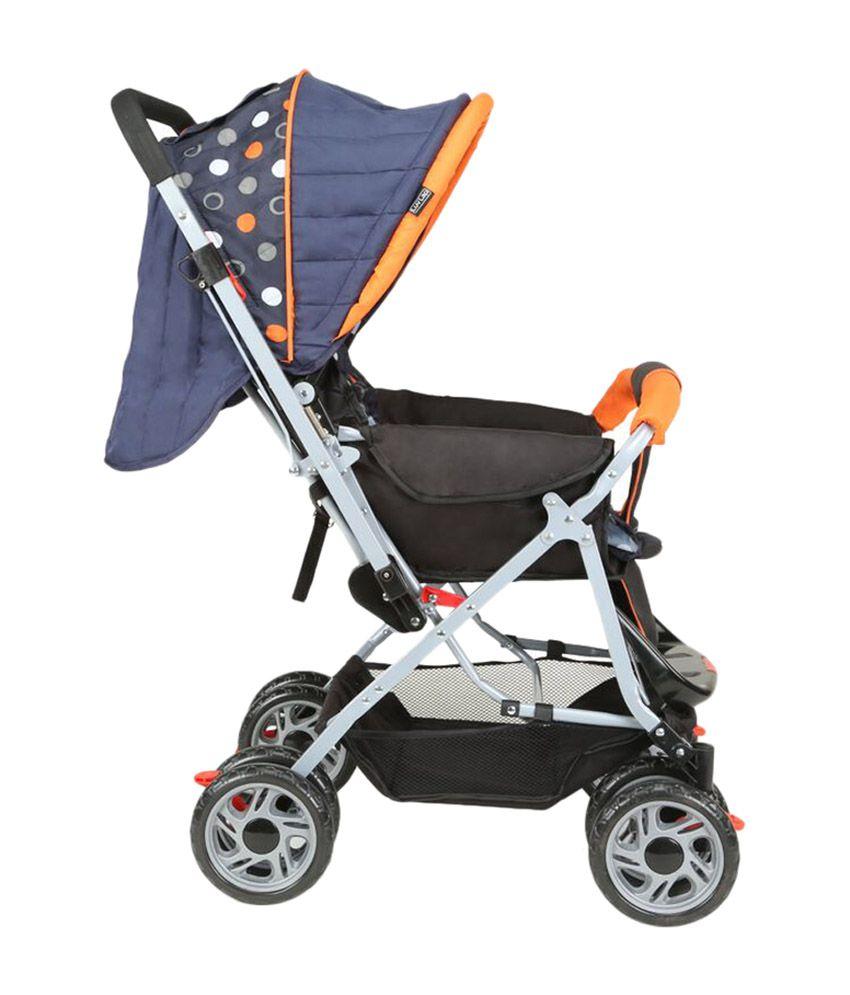 Luv Lap Baby Stroller Pram Sunshine Orange/Black - 18154 ...