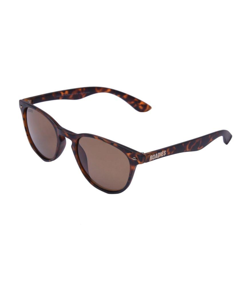 MTV Roadies Brown Small Unisex Wayfarer Sunglasses