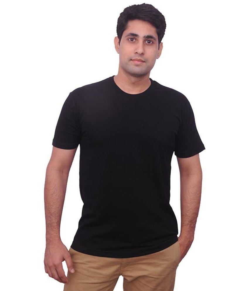 Ps Textile Black Cotton Blend T Shirt