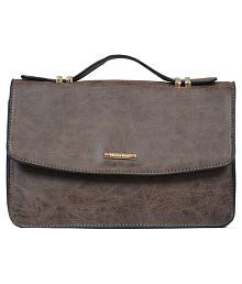 Diana Korr Brown P.U. Sling Bag