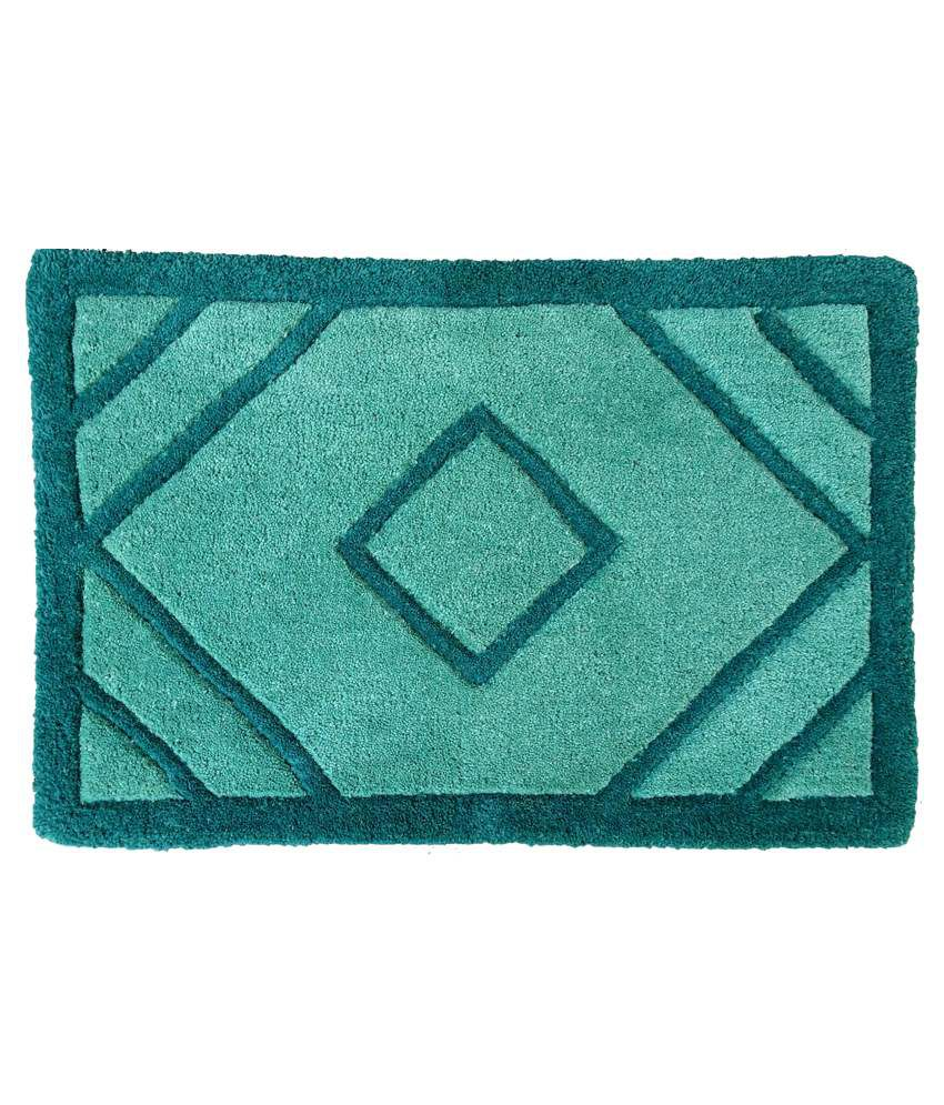 Amit Carpet Green Cotton Floor Mat