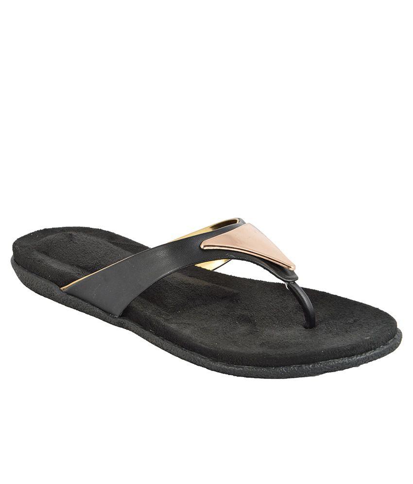 Royal Collection Black Flip Flops